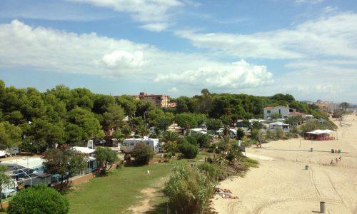Vista Panoramica del camping Francas de Tarragona Costa dorada Catalunya