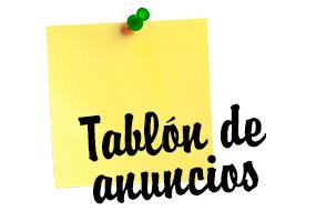 TABLON DE ANUNCIOS PARA LOS CAMPINGS